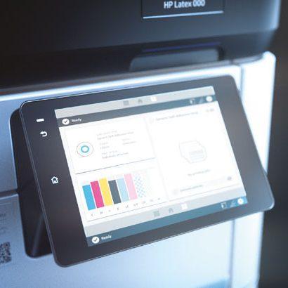 De HP Latex 700 en 800 series met wit - verkrijgbaar bij tripa. Display, wachtrij. herhaal printopdrachten